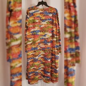 LuLaRoe Jackets & Coats - LulaRoe Multi-color floral duster sz L